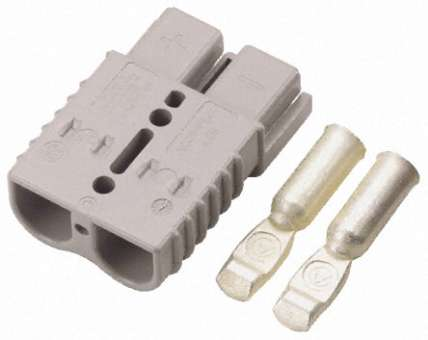 Anderson Hochstrom-Stecker/Buchse SB175 grau 175A Hochstromstecker, Batterie-Steckverbinder HSG/SPG