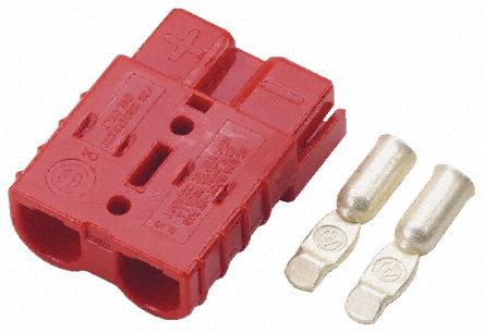 Anderson Hochstrom-Stecker/Buchse SB50 rot 50A Hochstromstecker, Batterie-Steckverbinder HSG/SPG