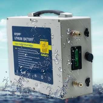 LiFePo4 12V 60Ah mit Ladegerät, Schutzelektronik, Kapazitäts&Spannungsanzeige, Batteriekoffer