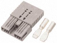 Anderson Hochstrom-Stecker/Buchse SB50 grau 50A Hochstromstecker, Batterie-Steckverbinder HSG/SPG